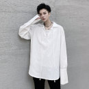 shirt Youth fashion Others M,L,XL,2XL white routine square neck Long sleeves easy Other leisure Four seasons youth Cotton 100% tide 2020 Solid color