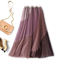 skirt Spring 2021 Average size Greyish pink, greyish green, haze blue longuette Versatile High waist Pleated skirt other Type A R21011405 91% (inclusive) - 95% (inclusive) Rothaes / Lohans polyester fiber