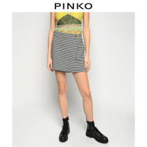 Casual pants DZ0 38 40 Spring 2021 shorts Wide leg pants High waist routine 25-29 years old 1Q10788406 PINKO Cotton 73% modified polyacrylonitrile fiber (modified acrylic fiber) 26% polyurethane elastic fiber (spandex) 1% Same model in shopping mall (sold online and offline)