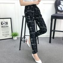 Casual pants M [recommended 80-120 kg] l [recommended 120-140 kg] XL [recommended 140-160 kg] Summer of 2018 Ninth pants Haren pants High waist 00111