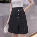 skirt Summer 2021 S M L XL White black OS spring 2021 new irregular skirt women's mid length ol professional high waist slim A-line skirt summer a Middle-skirt commute High waist Irregular Solid color Type A 25-29 years old 1335KJLKHG+ More than 95% other Love for Immortals other Ol style Other 100%