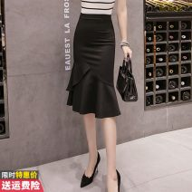 skirt Spring 2021 S M L XL 2XL black Mid length dress commute High waist skirt Solid color Type A 30-34 years old GT211B-9010 More than 95% other Princess Daixiang other zipper Korean version Other 100% Pure e-commerce (online only) 201g / m ^ 2 (including) - 250G / m ^ 2 (including)
