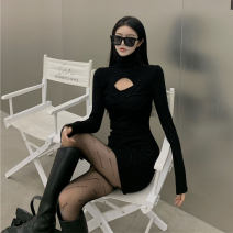 Dress Spring 2021 Black dress grey dress black stockings S M L Short skirt singleton  Long sleeves commute High collar High waist Solid color 18-24 years old BEIHONG Korean version CC3325 More than 95% other Other 100% Pure e-commerce (online only)