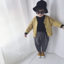 trousers Other / other neutral Navy Blue spring and autumn trousers Korean version There are models in the real shooting Harlem Pants / knickerbockers Leather belt High waist cotton Don't open the crotch Cotton 95% other 5% other in one's childhood