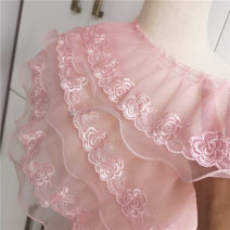Lace / lace Countryside The price of single-layer lace fold with 8 cm width is half a meter, that of Organza double-layer fold with 13 cm width is half a meter, that of three-layer lace fold with 15 cm width is half a meter, and that of straight lace with 8 cm width is one meter