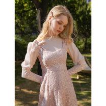 Fashion suit Spring 2021 S,M,L Camellia powder - T-shirt, Susanna powder - suspender skirt 18-25 years old 51% (inclusive) - 70% (inclusive) cotton