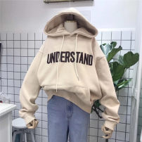 Sweater / sweater Winter 2020 M L XL 2XL Long sleeves routine Socket singleton  Plush Hood easy commute routine letter 18-24 years old 96% and above Myshangyi cabinet Korean version polyester fiber Polyester 100%