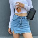skirt Summer 2021 S M L XL Dark grey light blue dark blue Miniskirt street High waist skirt Type A A4325 More than 95% Denim John Ratzenberger  other pocket Other 100% Pure e-commerce (online only) Europe and America