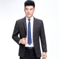man 's suit 8328 lattice (medium thickness) Others Fashion City routine 165/84A(S),170/88A(M),175/92A(L),180/96A(XL),185/100A(2XL),190/104A(3XL) easy Double breasted Other leisure No slits old age Long sleeves spring routine Business Casual Casual clothes Flat lapel Straight hem lattice 2020 wool