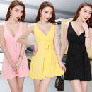 Dress Summer of 2019 Pink Yellow Black S M L XL XXL Short skirt 18-24 years old Pull the face More than 95% polyester fiber Polyethylene terephthalate (polyester) 100% Pure e-commerce (online only)