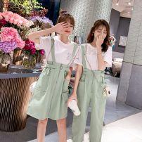 Fashion suit Summer of 2019 S M L XL 2XL 3XL 4XL Green strap skirt [2-piece set] green strap pants [2-piece set] white strap skirt [2-piece set] white strap pants [2-piece set] Khaki strap skirt [2-piece set] Khaki strap pants [2-piece set] Tong Ying ya TYY-2013 Polyester 55% other 45%