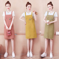 Fashion suit Summer 2021 S M L XL XXL Yellow pink Khaki Tong Ying ya TYY- 601# Polyester 55% other 45% Pure e-commerce (online only)