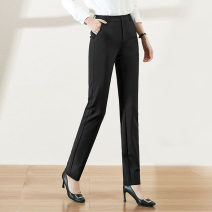 Casual pants Black [spring and autumn], black [Summer thin] XS (26) = 1 [waist two feet], s (27) = 2 [waist two feet one], m (28) = 3 [waist two feet two], l (29) = 4 [waist two feet three], XL (30) = 5 [waist two feet four], XXL (31) = 6 [waist two feet five-six] Spring 2021 trousers Straight pants