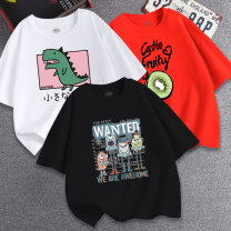 T-shirt MUO 110cm 120cm 130cm 140cm 150cm 160cm male summer Short sleeve Crew neck leisure time There are models in the real shooting nothing cotton Cartoon animation Cotton 100% Class B other Spring 2020 Chinese Mainland