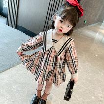 Fashion suit Spring 2021 80cm,90cm,100cm,110ccm,120cm khaki Under 17 Other / other 81% (inclusive) - 90% (inclusive) cotton