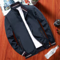Jacket Jessica Fashion City [1904] Khaki [1904] dark blue [1904] black 4XL M L XL 2XL 3XL routine Self cultivation Other leisure spring TM-1898 Polyester 100% Long sleeves Wear out stand collar Business Casual middle age routine Zipper placket Cloth hem No iron treatment Solid color polyester fiber
