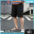 Casual pants Eptison / Tiancheng clothing Youth fashion Black flower grey S M L XL routine Shorts (up to knee) Other leisure easy No bullet AMR018 summer youth Basic public middle-waisted Straight cylinder Polyester 100% Overalls Alphanumeric other polyester fiber Spring 2020 Less than 30%