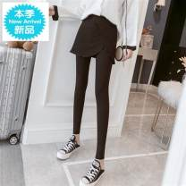 Leggings Autumn of 2019 Black (no velvet in spring and Autumn), dark grey (no velvet in spring and Autumn), light grey (no velvet in spring and Autumn), black (thickened with velvet), dark grey (thickened with velvet) M,L,XL,2XL,3XL,4XL routine trousers Z0822 18-24 years old Other / other other