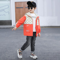 Plain coat Tagkita / she and others male 100cm,120cm,130cm,140cm,150cm,160cm Orange CADINI & 2113, gray CADINI & 2113 spring and autumn Korean version Zipper shirt There are models in the real shooting routine No detachable cap other chemical fiber Hood Cardini & 2113 Cotton 55% viscose 45% Class C