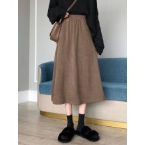 skirt Autumn 2020 Average size Brown, black longuette commute High waist High waist skirt Type A 18-24 years old 91% (inclusive) - 95% (inclusive) Korean version