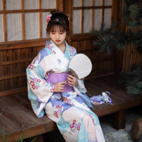 National costume / stage costume Winter of 2018 Blue and white (one piece kimono, waist cover taken separately) XS (height below 155), s (height 155 ~ 165), m (height above 165)