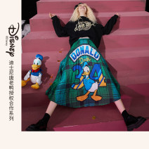 skirt Winter 2020 S M L Postman green postman green a Mid length dress commute Natural waist A-line skirt Cartoon animation Type A 18-24 years old 1041_ AL7005A More than 95% Elf sack / goblin's pocket polyester fiber printing Retro Polyester 100%