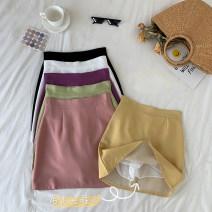 skirt Summer 2020 S,M,L White, purple, green, yellow, black, bean paste Versatile 18-24 years old 30% and below