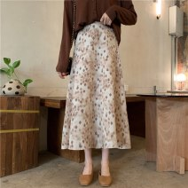 skirt Summer 2021 Average size Blue, brown Mid length dress commute High waist A-line skirt Type A 18-24 years old 51% (inclusive) - 70% (inclusive) other other Korean version