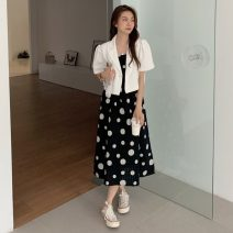 Dress Summer 2021 Medium length skirt Two piece set commute 18-24 years old 31% (inclusive) - 50% (inclusive) camisole other Korean version Other / other other One size fits all