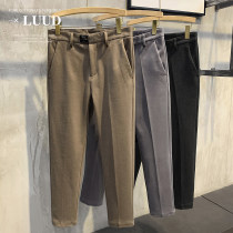 Casual pants Others Youth fashion Black, camel, grey 29,30,31,32,33,34,36 thick Ninth pants Other leisure Self cultivation Micro bomb winter youth Exquisite Korean style 2020 middle-waisted Little feet Tapered pants Three dimensional tailoring No iron treatment Solid color Wool Fashion brand