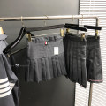 skirt Autumn of 2018 SIZE:0,SIZE:1,SIZE:2,SIZE:3 Basic grey, basic black, high and low skirt grey, small ribbon grey, small ribbon Navy, four bar skirt grey Miniskirt Versatile High waist Pleated skirt Solid color Type A 31% (inclusive) - 50% (inclusive) other Other / other polyester fiber zipper