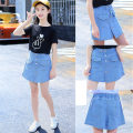 trousers Starting point female 120cm,130cm,140cm,150cm,160cm,170cm summer shorts Korean version There are models in the real shooting Jeans Button middle-waisted Cotton denim Don't open the crotch Cotton 99% other 1% Class B Chinese Mainland Zhejiang Province Huzhou City