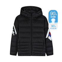 Sports down jacket Basic black 361° male 2XL 3XL 4XL XS (adult) s (adult) m (adult) l (adult) XL (adult) have cash less than that is registered in the accounts Grey duck down 90% Below 100g Winter of 2019 Hood zipper Sports & Leisure letter keep warm Life Series polyester fiber yes