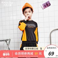 Sweater / sweater Future star black male 110cm 120cm 130cm 140cm 150cm 160cm spring and autumn nothing motion Socket routine There are models in the real shooting other letter Other 100% Spring 2021