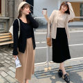 Women's large Winter 2020 Single black skirt, single Khaki Skirt, single denim blue skirt, black suit, apricot suit XL reference weight 120-155 kg, 2XL reference weight 155-180 kg, 3XL reference weight 180-205 kg, 4XL reference weight 205-245 kg Other oversize styles commute Solid color other cotton