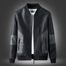 Jacket Junefe / Junfu Youth fashion Lyp-1805 black lyp-1805 gray M L XL 2XL 3XL 4XL routine Self cultivation Other leisure autumn A436*CSL*1583 Polyester 93.5% cotton 5% viscose 1.5% Long sleeves Wear out Baseball collar tide youth routine Zipper placket Cloth hem No iron treatment Loose cuff