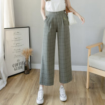 Casual pants Black army green apricot S M L XL 2XL Spring 2021 Ninth pants Wide leg pants High waist commute routine 18-24 years old TYL125066 Tui love other Korean version pocket Other 100% Pure e-commerce (online only)
