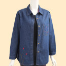 Middle aged and old women's wear Spring 2020, autumn 2020 Denim blue L [recommended weight 90-106 kg], XL [recommended weight 107-123 kg], 2XL [recommended weight 124-137 kg], 3XL [recommended weight 137-150 kg], 4XL [recommended weight 155-170 kg] leisure time Jacket / jacket easy singleton  routine