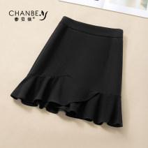 skirt Summer 2021 26/S 27/M 28/L 29/XL 30/2XL black Short skirt commute High waist Ruffle Skirt Solid color Type A More than 95% Xiangbeiyi polyester fiber Korean version Polyethylene terephthalate (polyester) 100% Pure e-commerce (online only)
