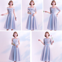 Dress / evening wear Koubosa Polyester 90% others 10% Pure e-commerce (online sales only) Weddings, adulthood parties, company annual meetings, daily appointments Medium and long term Self cultivation Autumn of 2018 Korean version middle-waisted One shoulder KBS037 Bandage 18-25 years old Solid color