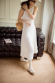 Dress Autumn 2020 White, white (in stock) XS,S,M,L longuette Two piece set Sleeveless commute Crew neck High waist Solid color Socket Big swing other Others 25-29 years old Type A TOPCLOSET Retro Hollow out, three-dimensional decoration T20C3191 31% (inclusive) - 50% (inclusive) other cotton