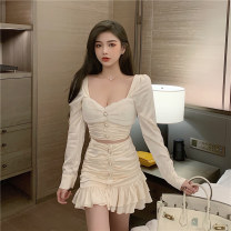 Fashion suit Spring 2021 S for 78-95 kg, m for 95-105 kg, l for 105-115 kg Pearly white 25-35 years old Ya makeup OJFS-352# Polyester 55% other 45% Pure e-commerce (online only)