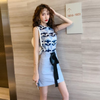 Fashion suit Spring 2021 S for 78-95 kg m for 95-105 kg L for 105-115 kg XL for 115-125 kg blue 25-35 years old Ya makeup HCFSSPD-8276 Polyester 55% other 45% Pure e-commerce (online only)