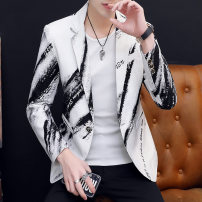 man 's suit Black yellow white Su Huang Youth fashion routine M L XL 3XL XXL SH-710170 Polyester 100% Winter 2020 Self cultivation A single breasted button Other leisure No slits Pure e-commerce (online only) youth Long sleeves autumn routine tide Casual clothes Flat lapel Round hem Solid color