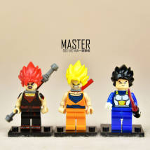 Doll / Ornament / hardware doll goods in stock Yellow hair red hair black hair 3 together Movies Japan The height is about 4.5cm PVC Dragon Ball
