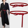 Belt / belt / chain top layer leather Brown red coffee black white Khaki female belt Versatile Single loop Youth Smooth button Glossy surface Glossy surface 3.8cm alone Fonkvxn / wind dancing dust zxz-01003-0621255 Spring 2021 no