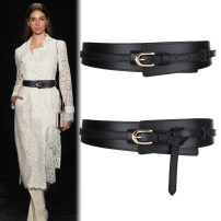 Belt / belt / chain Double skin leather Brown Khaki white red brown black female belt Versatile Single loop Youth Pin buckle soft surface 5cm alloy Naked candy color Fonkvxn / wind dancing dust 95cm 103cm Spring 2021