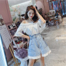 Fashion suit Spring 2020 S M L XL White top + blue skirt suit single blue denim skirt single white shirt 18-25 years old AESIR cc1251#0403 31% (inclusive) - 50% (inclusive) Other 100% Pure e-commerce (online only)