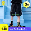 trousers AB (mother infant) male 110cm 120cm 130cm 140cm 150cm 160cm black summer Pant leisure time There are models in the real shooting Casual pants Leather belt middle-waisted other Don't open the crotch Polyester 100% Class B Summer 2021