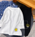 T-shirt white Other / other 90cm,100cm,110cm,120cm,130cm,140cm neutral Crew neck Korean version There are models in the real shooting cotton Solid color Other 100% other 12 months, 18 months, 2 years old, 3 years old, 4 years old, 5 years old, 6 years old, 7 years old, 8 years old Chinese Mainland